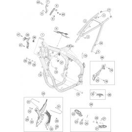 Cadre ( KTM 500 EXC-F-Six-Days 2021 )