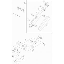 Echappement ( KTM 500 EXC-F-Six-Days 2021 )