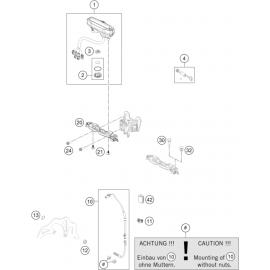Instrumentation, blocage colonne ( KTM 500 EXC-F-Six-Days 2021 )