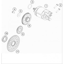 Démarreur électrique ( KTM 500 EXC-F-Six-Days 2021 )