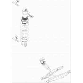 Amortisseur arrière ( KTM 125 XC-W 2018 )