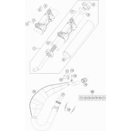 Echappement ( KTM 125 XC-W 2018 )