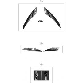 Décos, adhésif ( KTM 125 XC-W 2018 )