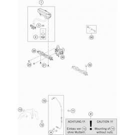 Instrumentation, blocage colonne ( KTM 125 XC-W 2018 )