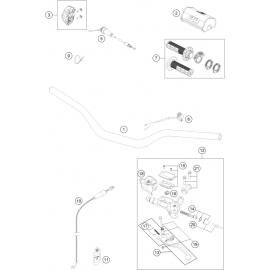 Guidon, Commandes ( KTM 125 SX 2018 )