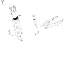 Amortisseur arrière ( KTM 150 SX 2018 )