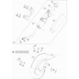 Echappement ( KTM 150 SX 2018 )