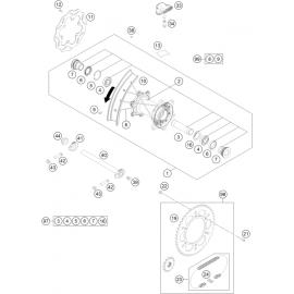 Roue arrière ( Husqvarna TE 300-JARVIS 2020 )