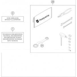 Kit accessoire ( Husqvarna TE 300-JARVIS 2020 )