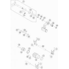Mécanisme Chgt vitesse ( Husqvarna TE 300-JARVIS 2020 )