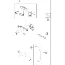 Instrumentation, blocage colonne ( Husqvarna TX 125 2018 )
