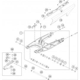 Bras oscillant ( Husqvarna SVARTPILEN 401 2018 )