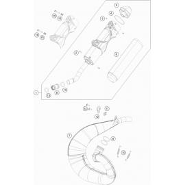 Echappement ( KTM 250 SX 2018 )