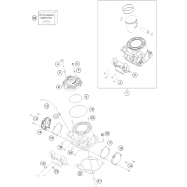 Cylindre, culasse ( KTM 250 SX 2018 )