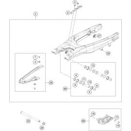 Bras oscillant ( KTM 250 SX-F 2018 )