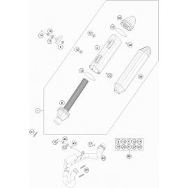 Echappement ( KTM 250 SX-F 2018 )
