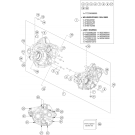Carter moteur ( KTM 250 SX-F 2018 )