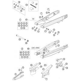 Bras oscillant ( KTM 125 EXC 2005 )