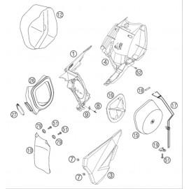 Filtre à air ( KTM 125 EXC 2005 )