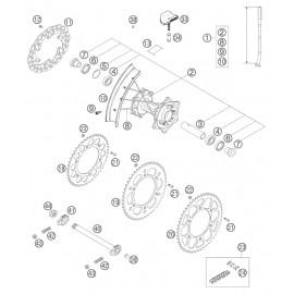 Roue arrière ( KTM 125 EXC 2005 )