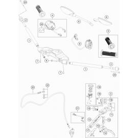 Guidon, Commandes ( Husqvarna VITPILEN 701 2018 )