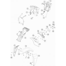 Plastiques, garde-boue, écope, plaque latérale ( Husqvarna VITPILEN 701 2018 )