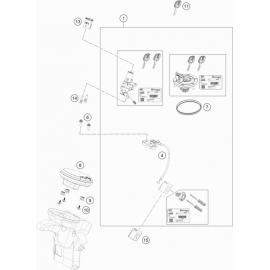 Instrumentation, blocage colonne ( Husqvarna VITPILEN 701 2018 )