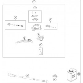 Cylindre de frein avant ( Husqvarna TE 300 ROCKSTAR-EDITION 2021 )