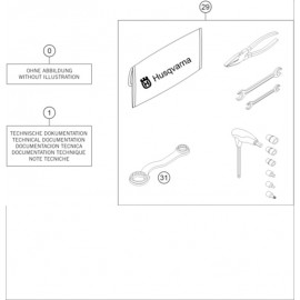 Kit accessoire ( Husqvarna TE 300 ROCKSTAR-EDITION 2021 )
