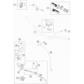 Guidon, Commandes ( KTM 85 SX-19-16 2018 )