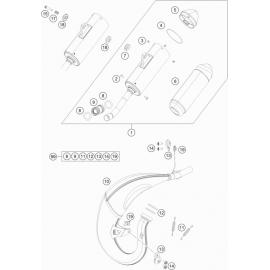 Echappement ( KTM 85 SX-19-16 2018 )