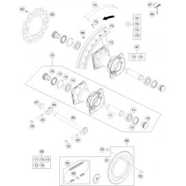 Roue arrière ( KTM 85 SX-19-16 2018 )