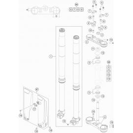 Fourche avant, Té de fourche ( KTM 85 SX-17-14 2018 )