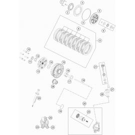Embrayage ( KTM 85 SX-17-14 2018 )
