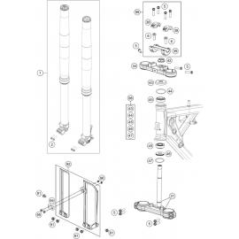 Fourche avant, Té de fourche ( KTM 65 SX 2018 )