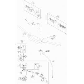 Guidon, Commandes ( KTM 65 SX 2018 )