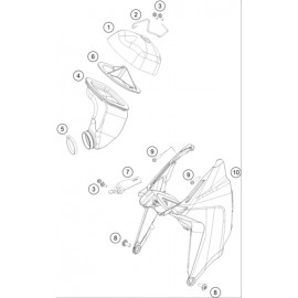 Filtre à air ( KTM 65 SX 2018 )