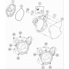 Carter d'embrayage ( KTM 65 SX 2018 )