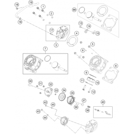 Cylindre, culasse ( KTM 65 SX 2018 )