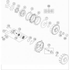Embrayage ( KTM 65 SX 2018 )