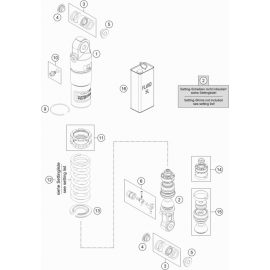 Amortisseur arrière éclaté ( KTM 50 SX-MINI 2019 )