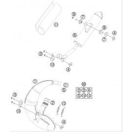 Echappement ( KTM 50 SX-MINI 2019 )