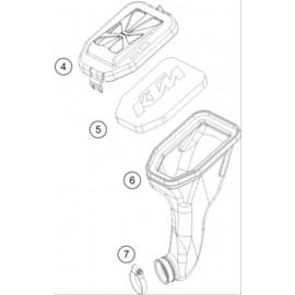 Filtre à air ( KTM 50 SX-MINI 2019 )