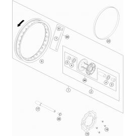 Roue avant ( KTM 50 SX-MINI 2019 )