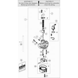 Carburateur ( KTM 50 SX-MINI 2019 )