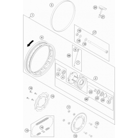 Roue arrière ( KTM 50 SX 2019 )