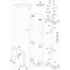 Fourche avant, Té de fourche ( KTM 85 SX-17-14 2019 )