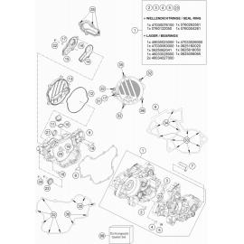 Carter moteur ( KTM 85 SX-17-14 2019 )