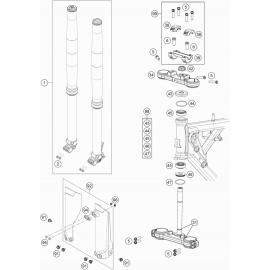 Fourche avant, Té de fourche ( KTM 65 SX 2019 )