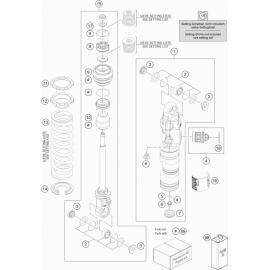 Amortisseur arrière éclaté ( KTM 65 SX 2019 )